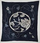 Edo Indigo Cotton Frosiki Rare crest Hand-spun Thick.