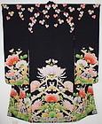 Taisho Yuzen  Kinsha-Silk Excellent Long-sleeved kimono