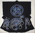 Edo Indigo Tsutsugaki Cotton Yogi Thick Hand-spun Hi-ogi