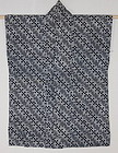 Meiji Indigo Katazome Cotton Han-Jyuban Hand-spun Thick QRcord