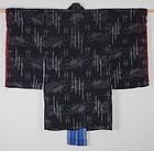 Edo Etigo-jyofu Indigo Kasuri Henp. Igo design Child Kimono