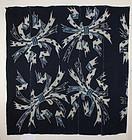 Edo Indigo Cotton Tsutsugaki Tabanenoshi Big size Hand-spun Thick.