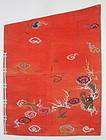 Edo Benibana- dyeing Kesa-Silk Dragon Embroidery Boro