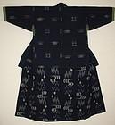 Japanese antique boro Indigo dye katazome kasuri cotton  noragi meiji