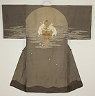 Taisho Silk Rabbit on the moon kimono.