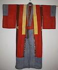 Edo yosegire colorful Patchwork  katazome silk kimono