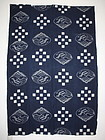 Japanese antique Indigo kasuri cotton  Design of old type futon cover