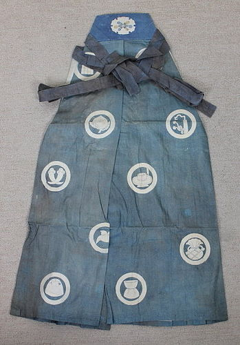 Meiji Cotton Kyogen Hakama Indigo Katazome Child Rare