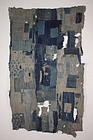 Japanese  Indigo dye cotton  Edo - Meiji  amazing  boro futon cover