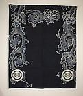 Japanese  thick Indigo dye cotton tsutsugaki futon cover Tang grass