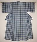 Japanese antique Indigo dye cotton Tie-dye shibori & katazome kimono