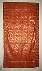 Japanese antique old Edo era silk kinran kesa Weave textile dragon