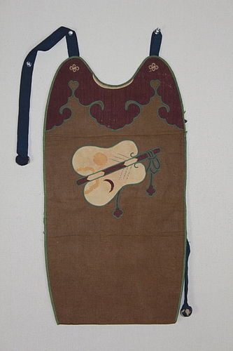 Edo Samurai breastplate Cotton Silk Applique Gunbai pattern.