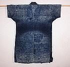 Japanese indigo dye sashiko boro noragi hanten textile