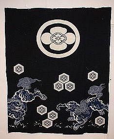Japanese tsutsugaki textile Meiji era futon cover