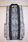 Japanese sashiko hanten (vest)  indigo dye Hirosaki
