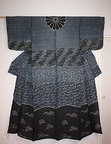 Japanese edo hemp dangawari gosyo- katsugi kimono