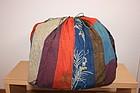 Japanese Edo textile kome-fukuro yuzen & rinzu silk