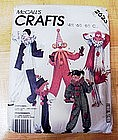 McCall's Crafts Clown Costume Pattern Adult Medium