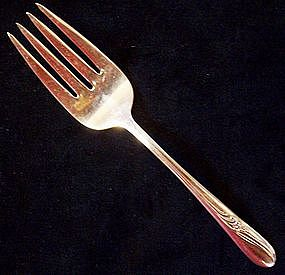 Silver Plate H & T Mfg. Co. Serving Fork Meadow Flower