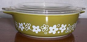 Pyrex Spring Blossom 1 pt. Covered Casserole Dish