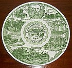 Ceramic Plate Archbold Area Centennial, Ohio 1866 -1966