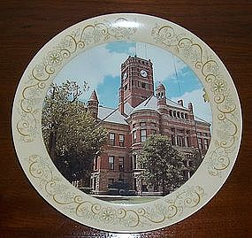 Melamine Plate Bryan Ohio Courthouse on the Square