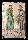 1940's Simplicity Maternity Dress, Jumper Pattern sz 12