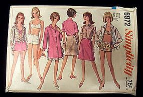 1960's Simplicity Pattern Bathing Suit, Beach Clothes