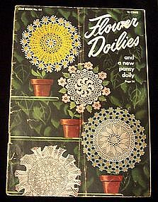 1949 Flower Doilies Crochet Instruction Book