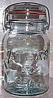 Atlas E-Z Seal Mason Canning Jar w/ Wire & Glass Top