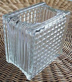 Glass Block Vase