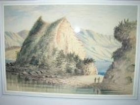 New Zealand 19c. Watercolor William Raworth