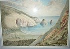 Early New Zealand Raworth Water color, 1820-1905