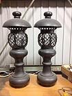 Japan fine old bronze  Temple Lanterns Pair