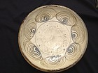"Japan large, superb ""horse eye"" mingei plate"