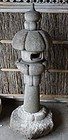 "Japanese fine antique ""mushroom"" tea garden lantern"