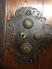Japan finest antique Kura door - superb keyaki/hardware