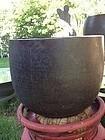 Japan fine monumental temple bell, 19c. Signed.