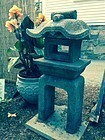 Japanese antique garden lantern