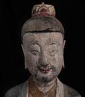 China Set painted wood group of Taoist Trinity Figures