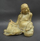Chinese 19th Century Carved Soapstone Figure