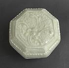 Octagonal Shape Qingbai Covered Box