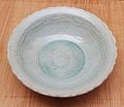 Fine Sawankhalok Large Bowl with Bluish Green Glaze