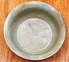 Five Dynasties Yue Mise Bowl With Flower Motive