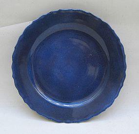 Powder Blue Glaze Dish, Kangxi Period