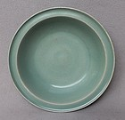 Nice Song Dynasty Blue-Green Longquan Celadon Dish. 21,2 cm