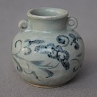 Chinese Yuan Dynasty Blue and White Small Jar