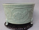 Chinese Yuan Dynasty Longquan Celadon Tripot Censer or Incense Burner