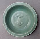 Chinese Song Dynasty Longquan Celadon Twin Fish Dish